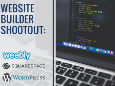 website builder shootout: weebly, squarespace, wordpress