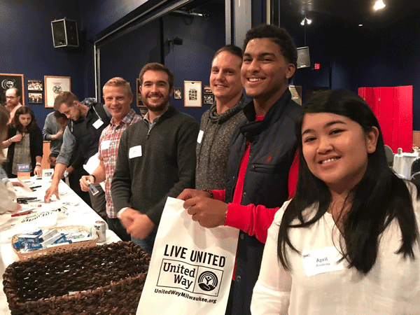 Brew City Marketing team volunteering with United Way